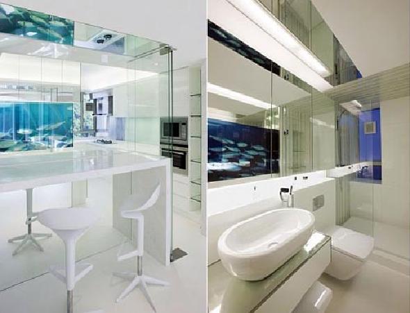 apartment bathroom kitchen